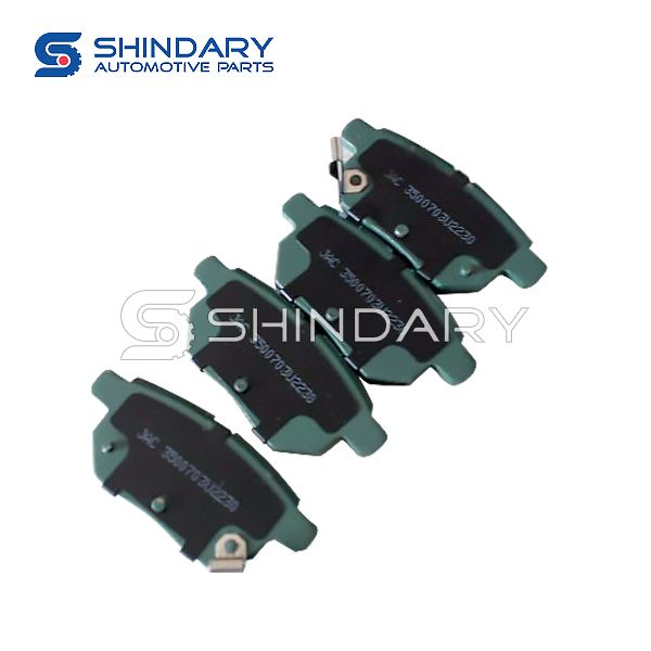 Rear brake pad (shoe) for JAC S2 3500700U2230-F01