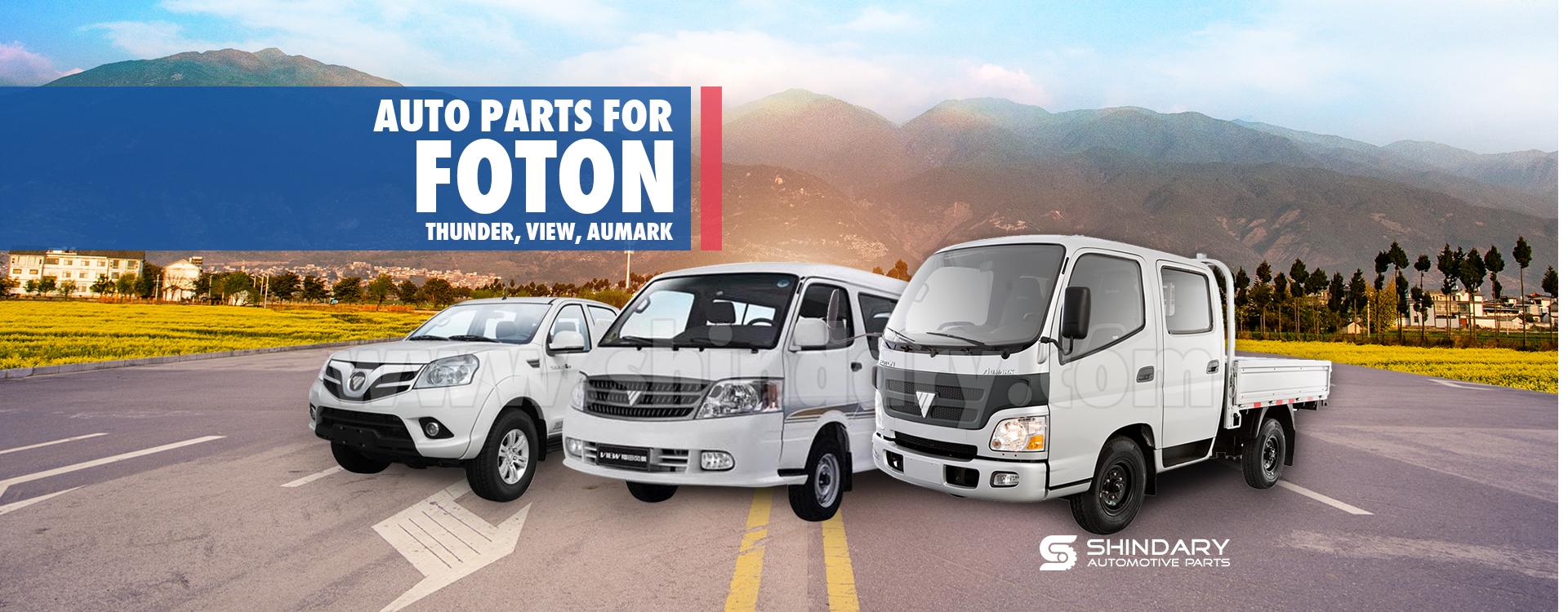 Automotive parts for FOTON Thunder, View, Aumark. Shindary auto parts