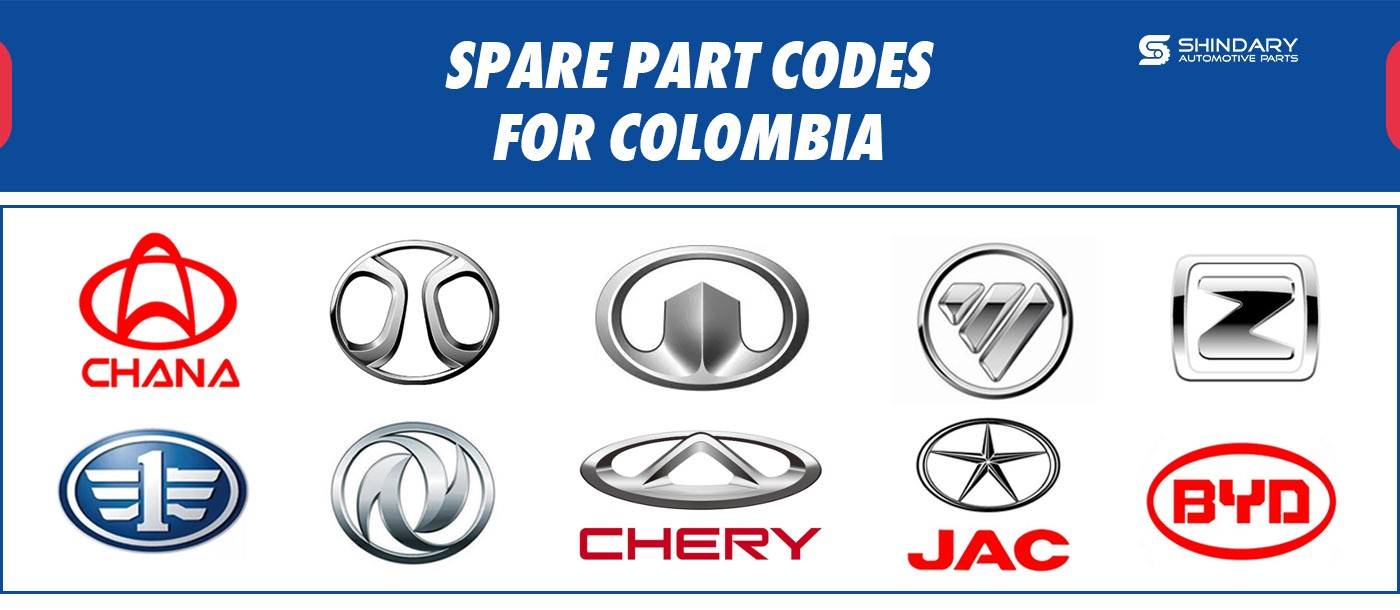 SPARE PART CODES FOR COLOMBIA MARKET