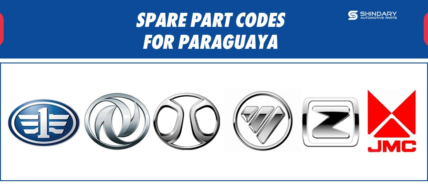 SPARE PART CODES FOR PARAGUAY MARKET
