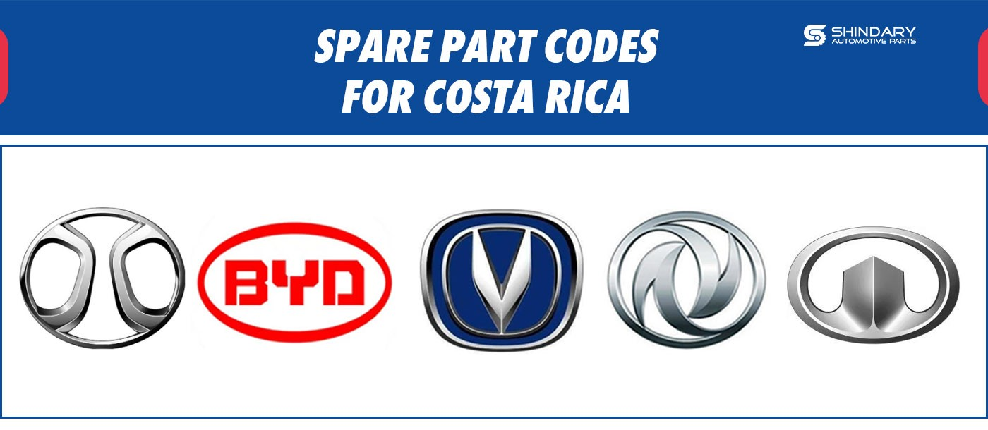 SPARE PART CODES FOR COSTA RICA MARKET